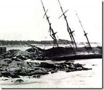 Shipweck upon the rocks