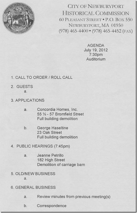 NHC Agenda - 7-19-12