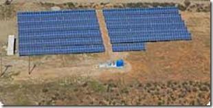 solar array in field