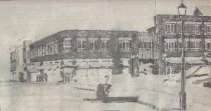 Proposed Garage under Mayor Clancy facing eastward on Merrimac