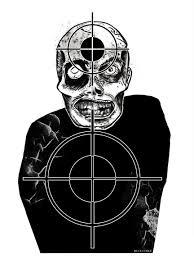 zombie target on a gun range