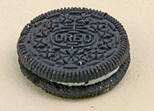 Oreo Cookie with a Nabisco Trademark on it