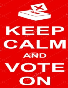 Keep calm and vote